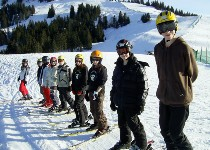 Großansicht Skischule auf der Piste