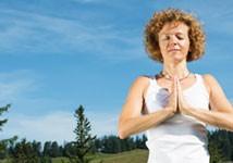 Yoga auf der Alm